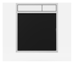 SANIT Betätigungsplatte LIS ohne Beleuchtung Grundplatte Glas schwarz Tastenpaar weiss