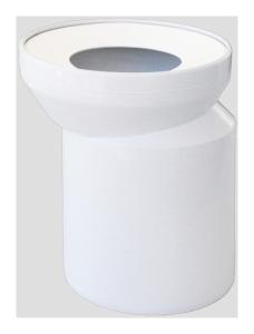 Sanit WC-Exzentersstutzen DN100 weiß