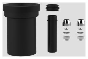 SANIT WC-Anschlussgarnitur schweißbar 180mm DN100 chrom