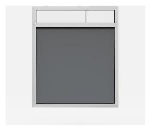 SANIT Betätigungsplatte LIS ohne Beleuchtung Grundplatte Glas anthrazit Tastenpaar weiß