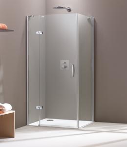Hüppe Aura elegance 4-ECK Schwingtür mit festen Segmenten für Seitenwand