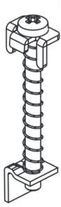 Purmo Delta Laserline Aushebesicherungs-Set zu Anschluss-Set 1 + 2