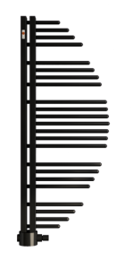 MERT Aycan Design-Badheizkörper schwarzgrau (Varianten:: RAL 7021 Schwarzgrau Breite:500 Höhe:1200)