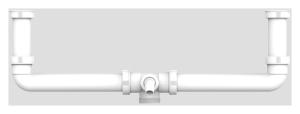 SANIT Ablaufverbindung G1 1/2 zentrisch mit 2x Anschlussrohr