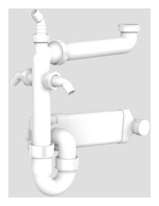 SANIT Raumspar- Rohrgeruchverschluss G1 1/2x40/50