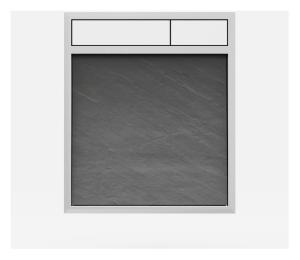 SANIT Betätigungsplatte LIS ohne Beleuchtung Grundplatte Schiefer grau Tastenpaar weiss