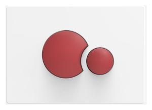 SANIT Betätigungsplatte S706 KITA weiß/rot