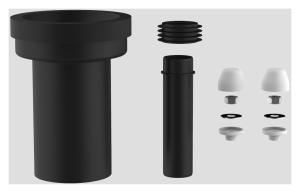 SANIT WC-Anschlussgarnitur schweißbar 180mm DN90 weiß