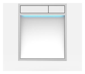 SANIT Betätigungsplatte LIS mit Beleuchtung Grundplatte Glas weiss Tastenpaar weiss