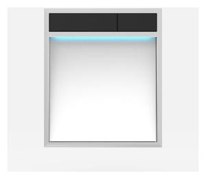 SANIT Betätigungsplatte LIS mit Beleuchtung Grundplatte Glas weiss Tastenpaar schwarz