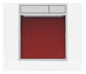SANIT Betätigungsplatte LIS mit Beleuchtung Grundplatte Glas rot Tastenpaar chrom hochglanz