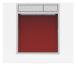 SANIT Betätigungsplatte LIS mit Beleuchtung Grundplatte Glas rot Tastenpaar mattchrom