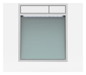 SANIT Betätigungsplatte LIS mit Beleuchtung Grundplatte Glas silbergrau Tastenpaar weiss