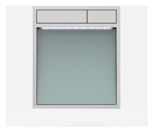 SANIT Betätigungsplatte LIS mit Beleuchtung Grundplatte Glas silbergrau Tastenpaar chrom hochglanz