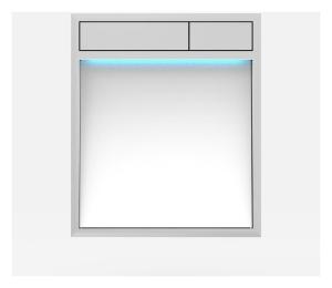 SANIT Betätigungsplatte LIS mit Beleuchtung Grundplatte Glas weiss Tastenpaar chrom hochglanz