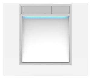 SANIT Betätigungsplatte LIS mit Beleuchtung Grundplatte Glas weiss Tastenpaar mattchrom