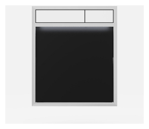 SANIT Betätigungsplatte LIS mit Beleuchtung Grundplatte Glas schwarz Tastenpaar weiss