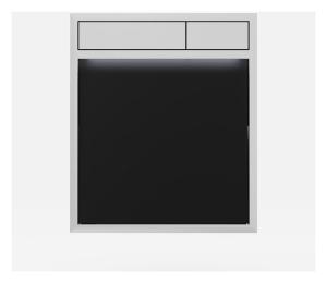 SANIT Betätigungsplatte LIS mit Beleuchtung Grundplatte Glas schwarz Tastenpaar chrom hochglanz