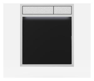SANIT Betätigungsplatte LIS mit Beleuchtung Grundplatte Glas schwarz Tastenpaar mattchrom