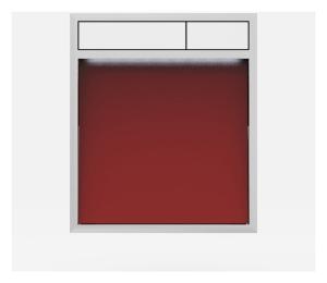 SANIT Betätigungsplatte LIS mit Beleuchtung Grundplatte Glas rot Tastenpaar weiss