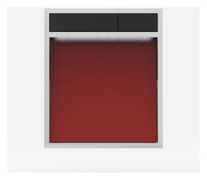 SANIT Betätigungsplatte LIS mit Beleuchtung Grundplatte Glas rot Tastenpaar schwarz
