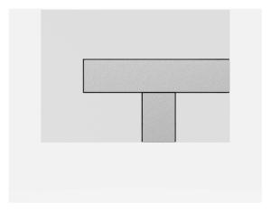 SANIT Betätigungsplatte LOS Grundplatte weiß, Tastenpaar mattchrom