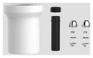 SANIT WC-Anschlussgarnitur 160mm DN100 chrom