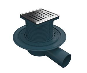MERT Bodenablauf mit Edelstahlrost- und Rahmen Square  DU-150