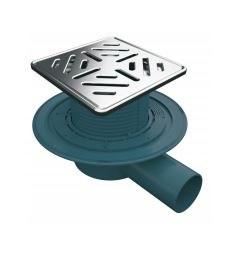 MERT Bodenablauf mit Edelstahlrost- und Rahmen Stripes DU-150-15-1