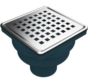 MERT Bodenablauf mit Edelstahlrost Square (304), 100x100 mm
