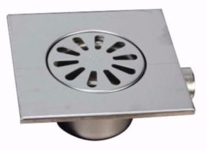 MERT Bodenablauf einteilig, komplett aus Edelstahl 150x150mm
