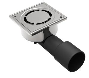 MERT Bodenablauf einteilig, komplett aus Edelstahl (304), 100x100 mm
