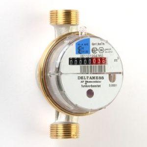 Deltamess Aufputz-Wasserzähler FUNK-V 3/4x130mm inklusive Beglaubigungsgebühr (Variante: Kaltwasser)