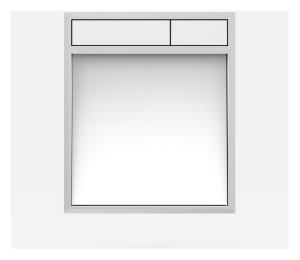 SANIT Betätigungsplatte LIS ohne Beleuchtung Grundplatte Glas weiss Tastenpaar weiss