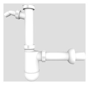SANIT Flaschengeruchsverschluss G1 1/2x40 mit Geräteanschluss