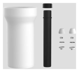 SANIT WC-Anschlussgarnitur 250mm DN100 weiß