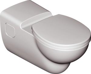 IS Wandtiefspül-WC CONTOUR 21 barrierefrei, spülrandlos (Beschichtung: ohne)