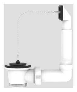 SANIT Ab-u.Überlaufgarnitur G1 1/2 ohne Geräteanschluss