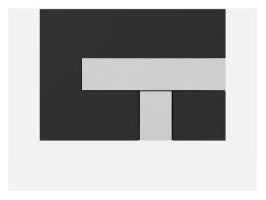 SANIT Betätigungsplatte LOS Grundplatte schwarz, Tastenpaar chrom hochglanz