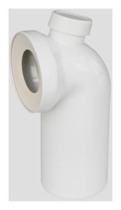 Sanit WC-Anschlussbogen DN100 90° weiß Anschluss oben DN50
