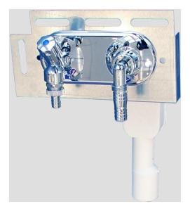 Sanit Wandeinbaugeruchverschluss mit Wasserzulauf DN 15