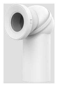 Sanit WC-Anschlussbogen 0-90° DN 110 weiß drehbar
