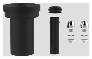 SANIT WC-Anschlussgarnitur schweißbar 180mm DN90 chrom