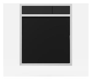 SANIT Betätigungsplatte LIS ohne Beleuchtung Grundplatte Glas schwarz Tastenpaar schwarz
