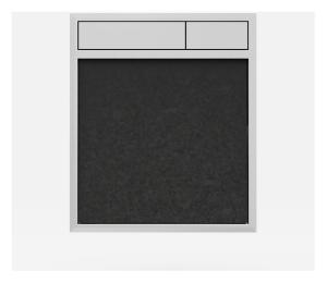 SANIT Betätigungsplatte LIS ohne Beleuchtung Grundplatte Granit schwarz Tastenpaar chrom