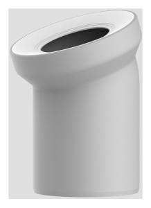 Sanit WC-Anschlussbogen DN100 manhattan 22 Grad