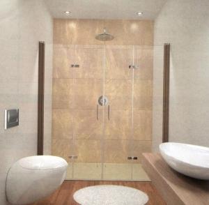 Hüppe Design elegance 4-Eck Zwei Schwingfalttüren in Nische