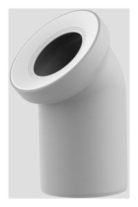 Sanit WC-Anschlussbogen DN100 manhattan 45 Grad