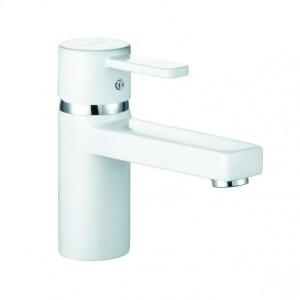 Kludi Zenta Waschtisch-Einhandmischer DN 10 ohne Ablaufgarnitur weiß/chrom