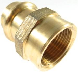 Kupfer Press Übergangsstück mit Innengewinde (Größe: 1/2x15mm)